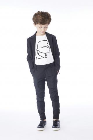 Karl Lagerfeld - Detské tričko 126-150 cm biela 150