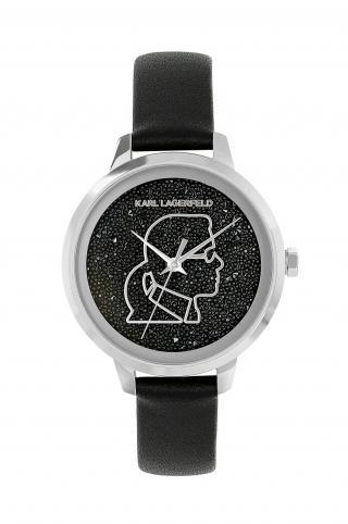 Karl Lagerfeld - Hodinky 5552725 dámské čierna ONE SIZE