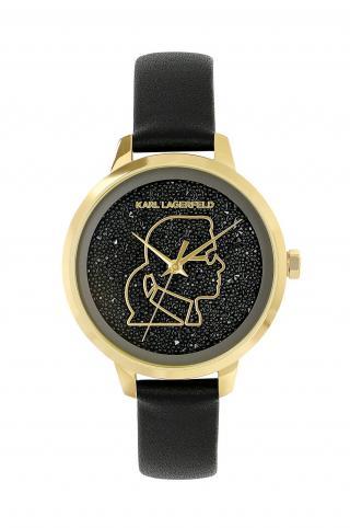 Karl Lagerfeld - Hodinky 5552726 dámské čierna ONE SIZE