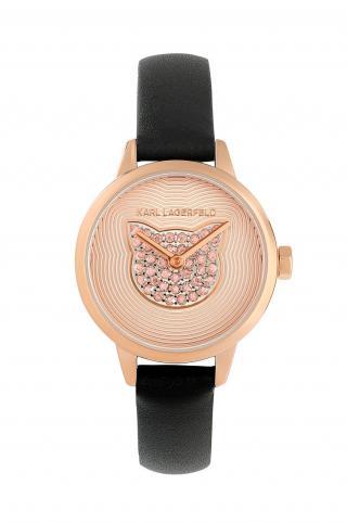 Karl Lagerfeld - Hodinky 5552737 dámské čierna ONE SIZE