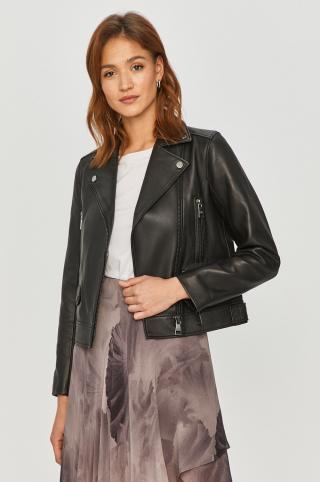 Karl Lagerfeld - Kožená bunda dámské čierna 36