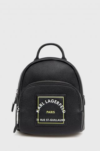 Karl Lagerfeld - Kožený ruksak dámské čierna ONE SIZE