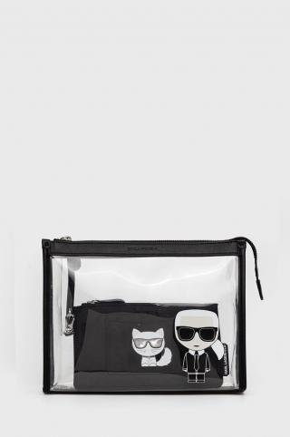 Karl Lagerfeld - Kozmetická taška dámské čierna ONE SIZE
