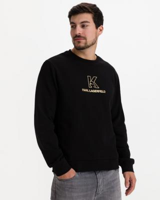Karl Lagerfeld Mikina Čierna pánské XXL