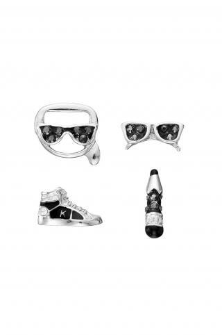 Karl Lagerfeld - Náušnice  dámské strieborná ONE SIZE