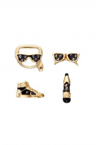 Karl Lagerfeld - Náušnice  dámské zlatá ONE SIZE