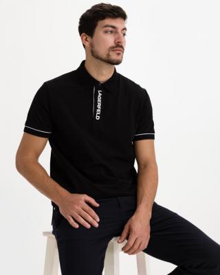 Karl Lagerfeld Polo tričko Čierna pánské XXL