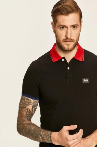 Karl Lagerfeld - Polo tričko pánské čierna S