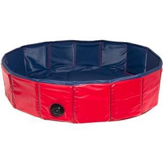 Karlie Skladací bazén pre psov modro/červený 160 × 30 cm