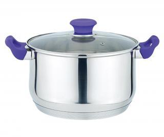 Kastrol s poklicí Muhler Purple 6.5 L Šedá & Stříbrná 6.5 L