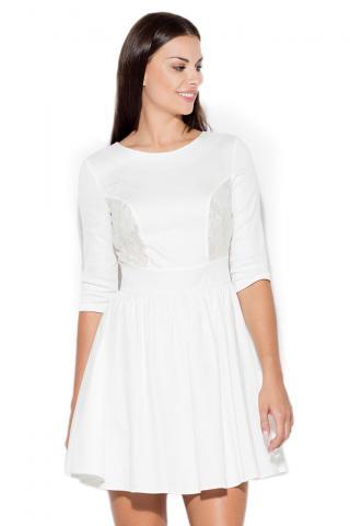 Katrus Womans Dress K068 dámské ecru L