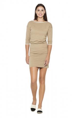 Katrus Womans Dress K105 dámské Beige M