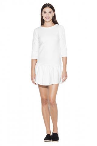 Katrus Womans Dress K222 dámské ecru M