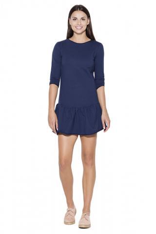 Katrus Womans Dress K222 Navy Blue dámské L