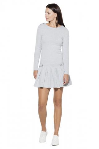 Katrus Womans Dress K267 dámské Grey L