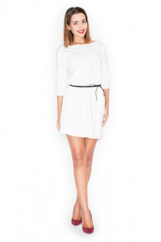 Katrus Womans Dress K335 dámské ecru L