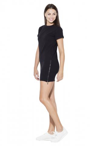 Katrus Womans Dress K349 dámské Black S