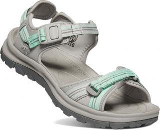 KEEN Dámske sandále TERRADORA II 1022450 light gray / Ocean wave 37 dámské