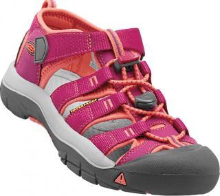 KEEN Detské sandále Newport H2 Very Berry/Fusion Coral JUNIOR 27-28