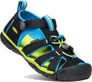 KEEN Detské sandále SEACAMP II CNX KIDS 1022969 black / brilliant blue 24