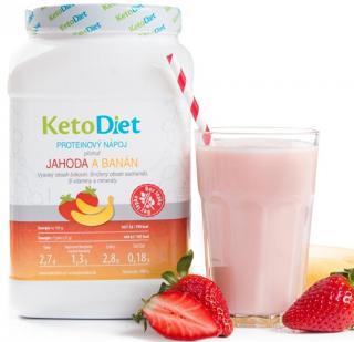 KetoDiet Proteínový nápoj príchuť jahoda a banán 35 porcií