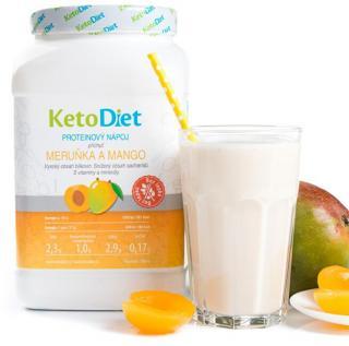 KetoDiet Proteínový nápoj príchuť marhuľa a mango 35 porcií