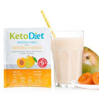 KetoDiet Proteínový nápoj príchuť marhuľa a mango 7 porcií -ZĽAVA KRÁTKA EXPIRÁCIA 3.12.2021