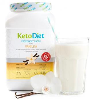 KetoDiet Proteínový nápoj príchuť vanilka 35 porcií