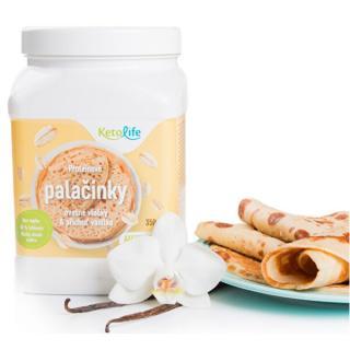 KetoLife Proteínové palacinky - Ovsené vločky a príchuť vanilka 350 g