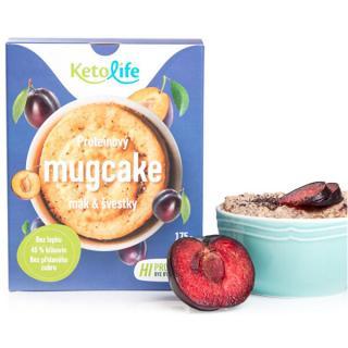 KetoLife Proteínový mugcake - Mak a slivky 5 x 35 g