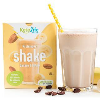 KetoLife Proteínový shake - Banány a kakao 5 x 30 g
