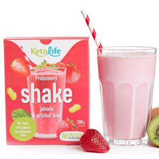 KetoLife Proteínový shake - Jahoda a príchuť kivi 5 x 30 g