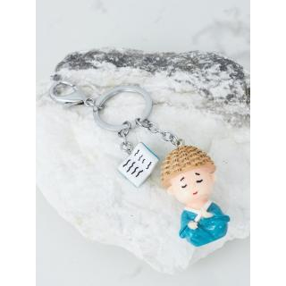Key ring with a turquoise figurine Neurčeno One size