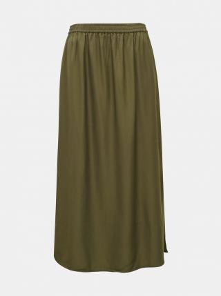 Khaki maxi skirt . OBJECT dámské M
