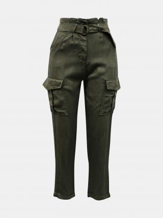 Khaki nohavice s vreckami TALLY WEiJL - XXS dámské XXS