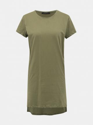 Khaki Womens Long Basic T-Shirt Alcott dámské S