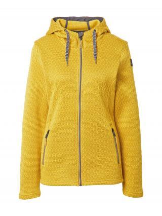 KILLTEC Funkčná flisová bunda  tmavožltá / žltá / tmavosivá dámské XS-S