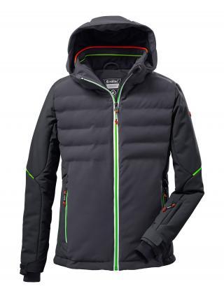 KILLTEC Outdoorová bunda  antracitová / tmavosivá / neónovo zelená pánské 128