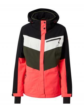KILLTEC Outdoorová bunda  čierna / biela / kaki / svetloružová dámské XS-S