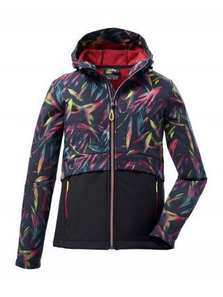 KILLTEC Outdoorová bunda  čierna / limetková / ružová / námornícka modrá / svetlomodrá dámské 140
