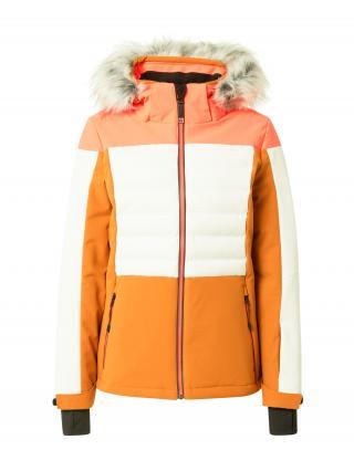 KILLTEC Outdoorová bunda  karí / biela / lososová dámské XS-S