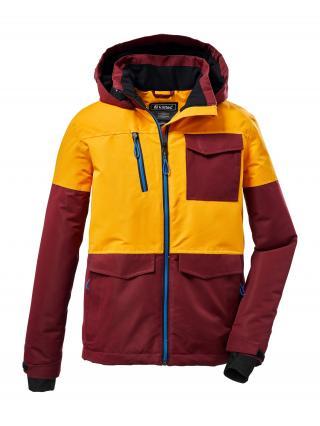 KILLTEC Outdoorová bunda  žltá / tmavočervená pánské 128