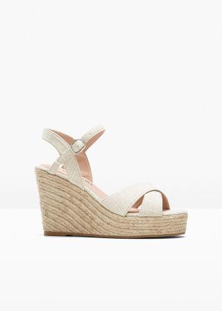 Klinové sandále dámské béžová 42,36,37,38,39,40,41