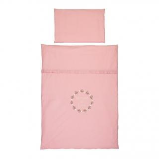KLUPS Posteľná bielizeň pre bábätko 4-dielna Rose ružová