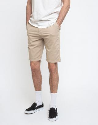Knowledge Cotton Chuck Regular Chino Shorts 1228 Light Feather Gray 31 pánské Béžová 31