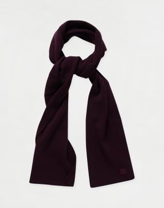 Knowledge Cotton JUNIPER organic wool scarf 1309 Codovan pánské Fialová