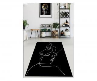 Koberec Black Drawing Art 160x230 cm Čierna 160x230 cm