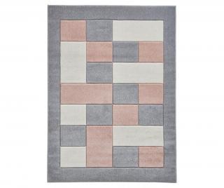Koberec Matrix Grey Pink 160x220 cm Šedá & Stříbrná 160x220 cm