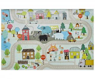 Koberec na hraní My Torino Kids Street 80x120 cm Vícebarevná 80x120 cm