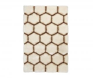 Koberec Noble House Comb Cream Brown 150x230 cm Krémová 150x230 cm